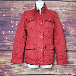 BANANA REPUBLIC, JACKET SIZE S, RED AND BLACK